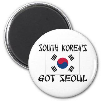 Las Coreas del Sur consiguieron Seul Imán Redondo 5 Cm