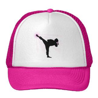 ¡Las correas negras llevan rosa también! Gorras De Camionero