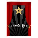 Las cortinas rojas de la estrella de Hollywood le Tarjeta Pequeña