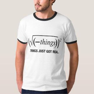 las cosas acaban de conseguir reales camisas