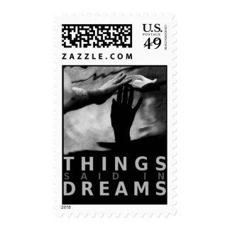 Las cosas dijeron en sellos de los sueños