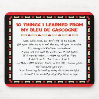 Las cosas divertidas I aprendieron de mi Bleu de G Tapetes De Ratón
