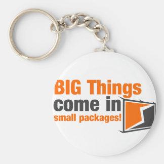 Las cosas GRANDES vienen en pequeños paquetes Llavero Redondo Tipo Pin