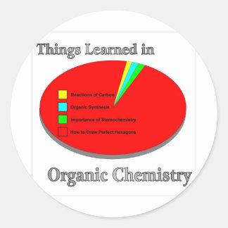 Las cosas I aprendido en química orgánica Pegatina Redonda