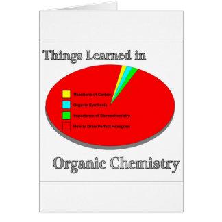 Las cosas I aprendido en química orgánica Tarjetón
