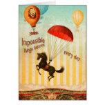 Las cosas imposibles suceden cada día (la tarjeta