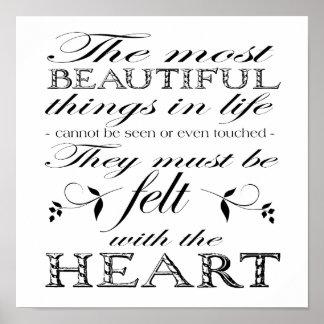 Las cosas más hermosas poster