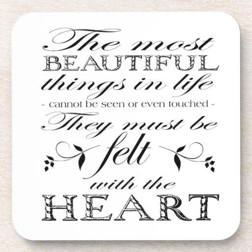 Las cosas más hermosas posavasos