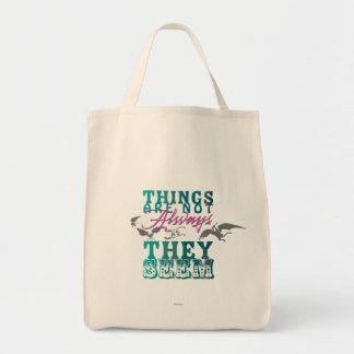Las cosas no están siempre mientras que parecen bolsa tela para la compra
