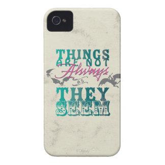 Las cosas no están siempre mientras que parecen carcasa para iPhone 4 de Case-Mate