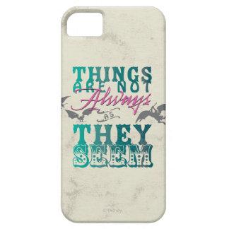Las cosas no están siempre mientras que parecen funda para iPhone 5 barely there