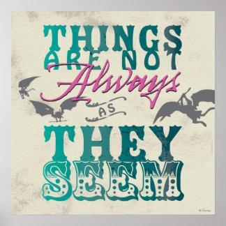 Las cosas no están siempre mientras que parecen poster