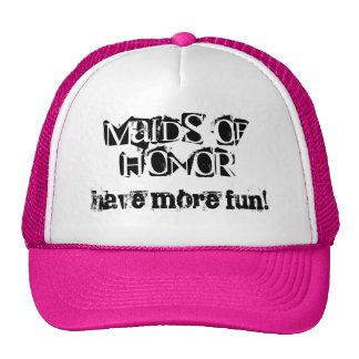Las criadas del honor se divierten más gorros bordados
