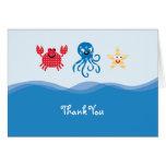 Las criaturas del mar le agradecen cardar felicitaciones