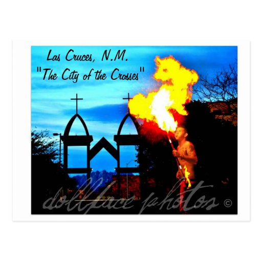 "Las Cruces,N.M. ""The City of the Crosses post card"