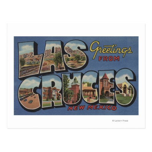 Las Cruces, New Mexico - Large Letter Scenes 2 Post Card