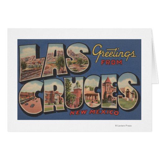 Las Cruces, New Mexico - Large Letter Scenes Cards