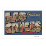 Las Cruces, New Mexico - Large Letter Scenes Postcard