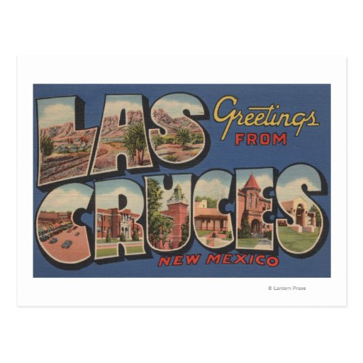 Las Cruces, New Mexico - Large Letter Scenes Postcards