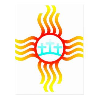 Las Cruces NM Zia Postcard