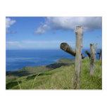 Las cruces pasan por alto la isla de South Pacific Postal