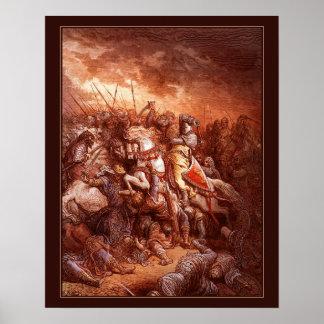 Las Cruzadas de Gustave Dore a color 11 Póster