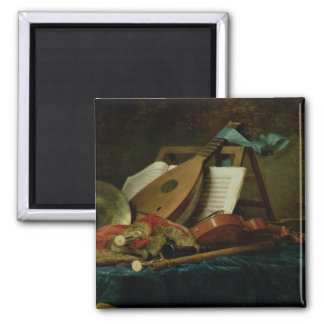 Las cualidades de la música, 1770 (aceite en lona) imán de frigorifico