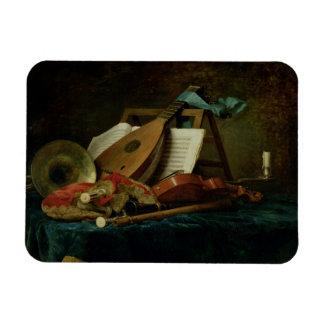 Las cualidades de la música, 1770 (aceite en lona) imán rectangular