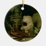 Las cualidades de los artes, 1769 (aceite en lona) ornamentos de reyes