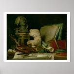 Las cualidades de los artes, 1769 (aceite en lona) impresiones