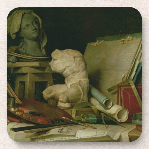 Las cualidades de los artes, 1769 (aceite en lona) posavasos