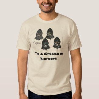 Las cuatro especies de Bigfoot Playera