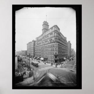 Las cuatro esquinas y poderes Building 1904 de Ro Poster