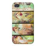 Las cuatro estaciones, Alfonso Mucha iPhone 4 Carcasa