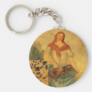 Las cuatro estaciones, verano de Paul Cezanne Llavero Redondo Tipo Pin