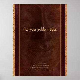Las cuatro verdades nobles del Buddhism, impresión Póster