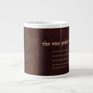 Las cuatro verdades nobles del Buddhism, porcelana Taza Grande