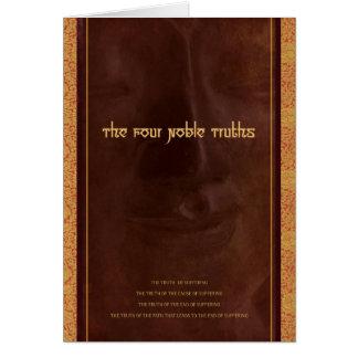Las cuatro verdades nobles del Buddhism, tarjeta