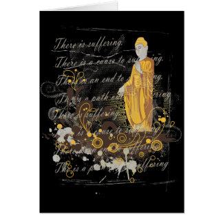 Las cuatro verdades nobles tarjeta de felicitación