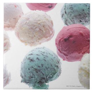 Las cucharadas helado azulejo cuadrado grande