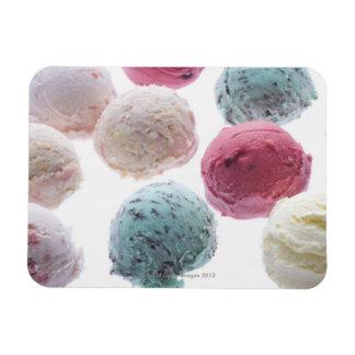 Las cucharadas helado imanes rectangulares