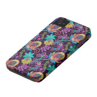 Las cuentas de cristal coloridas miran diseño flor iPhone 4 carcasas