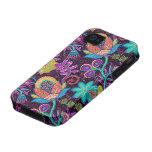 Las cuentas de cristal coloridas miran diseño flor iPhone 4 funda