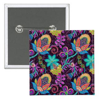 Las cuentas de cristal coloridas miran diseño flor pin