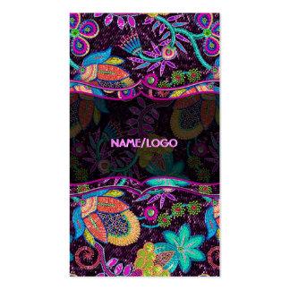 Las cuentas de cristal coloridas miran diseño flor tarjetas de visita