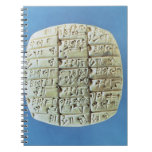 Las cuentas presentan con la escritura cuneiforme, libretas espirales