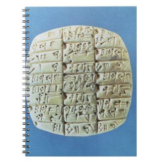 Las cuentas presentan con la escritura cuneiforme, spiral notebooks