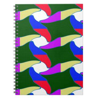 Las cuerdas coloridas de lujo del arte de papel libretas