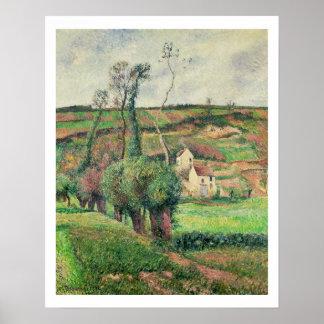 Las cuestas de la col, Pontoise, 1882 Póster