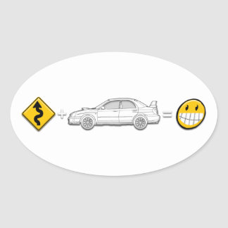 Las curvas, Subaru, igualan al pegatina de la